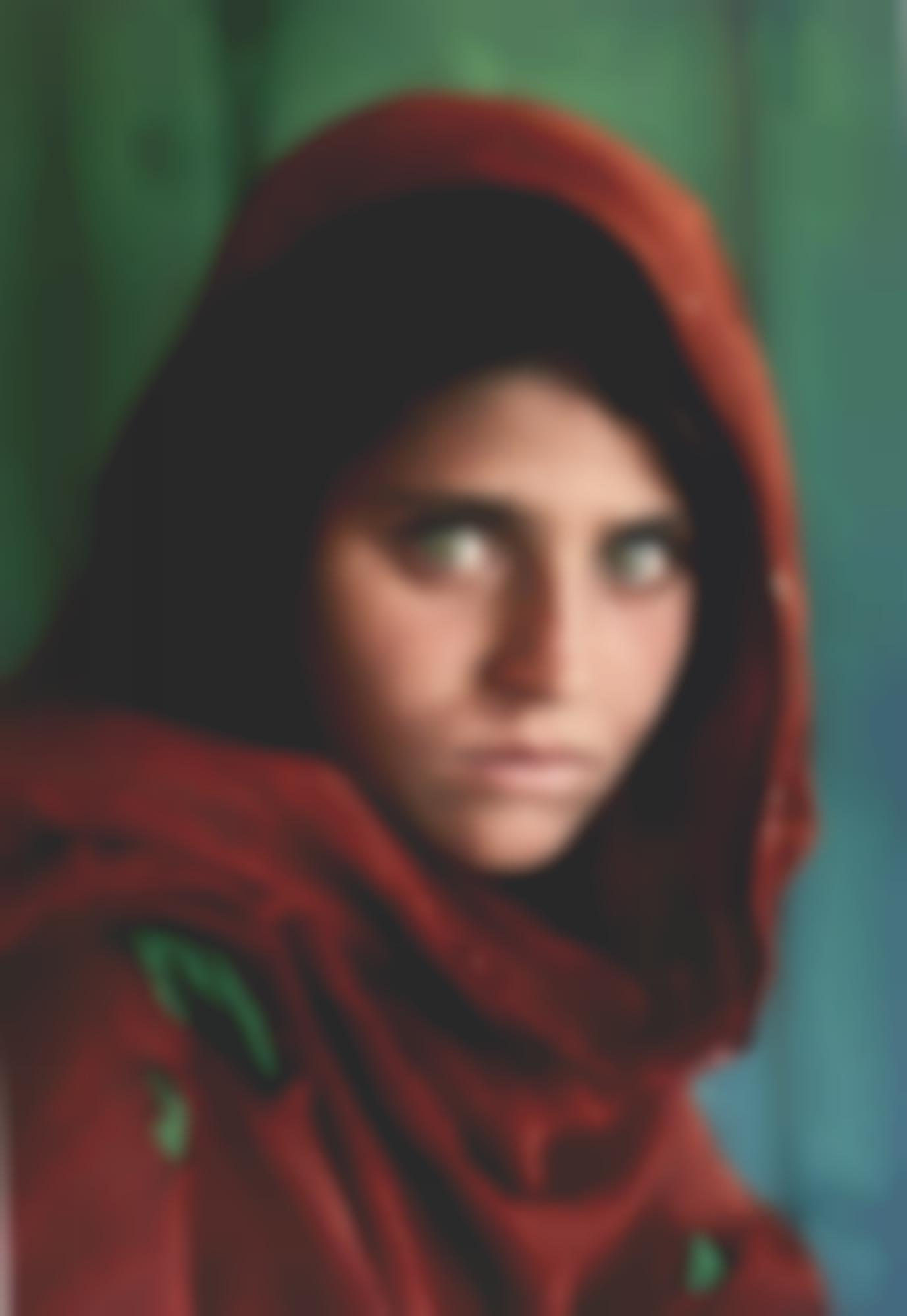 Steve McCurry-Sharbat Gula Afghan Girl Pakistan-1984