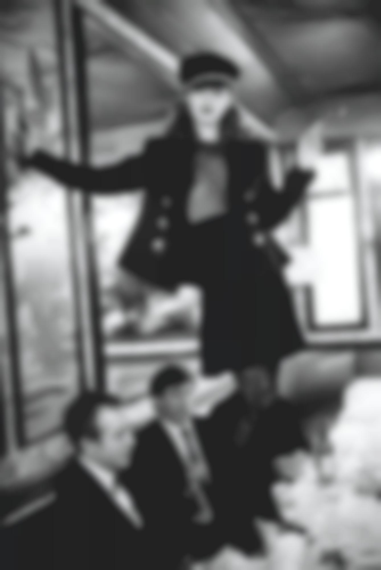 Arthur Elgort-'Kate Moss At Cafe Lipp' (Pour Vogue Italie) -1993