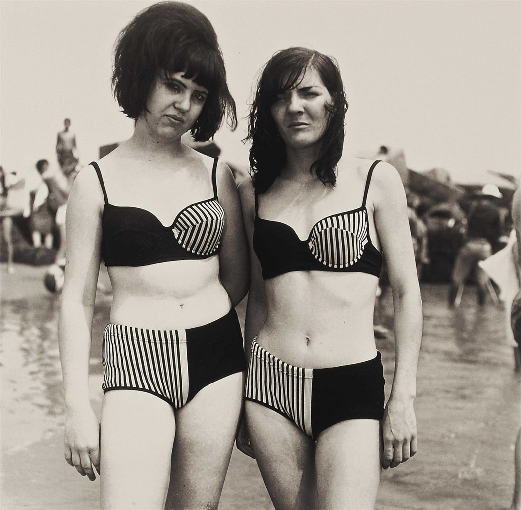 Diane Arbus-Two Girls in Matching Bathing Suits, Coney Island, N.Y.-1967