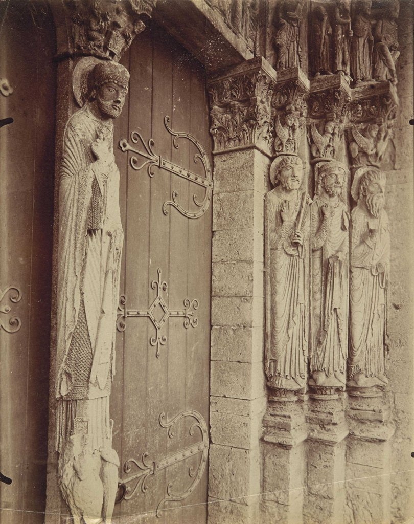 Eugene Atget-St Loup-de-Naud, Eglise, XIIe siecle-1902