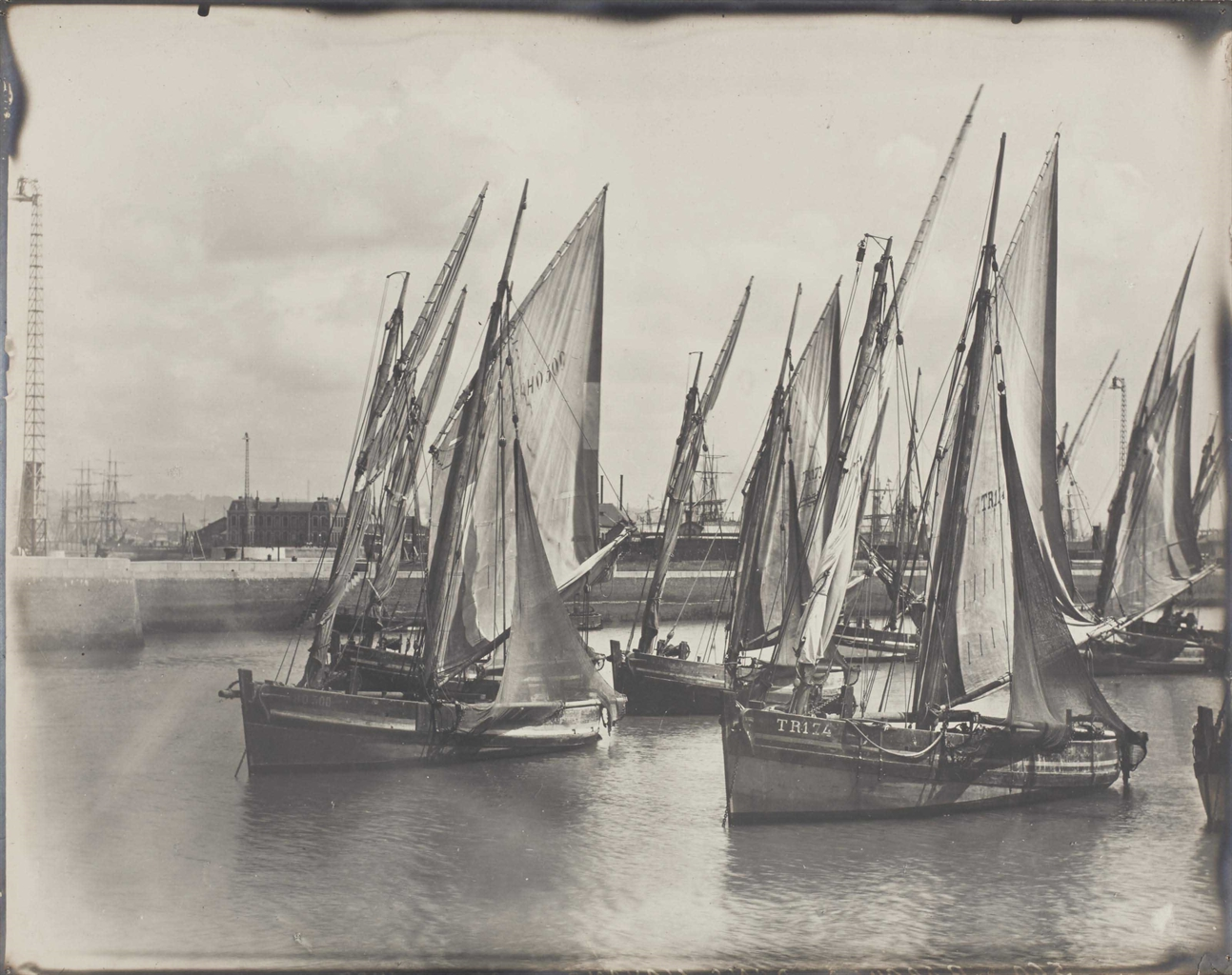 Photographer Unknown - Vues de voiliers, Le Havre-1910