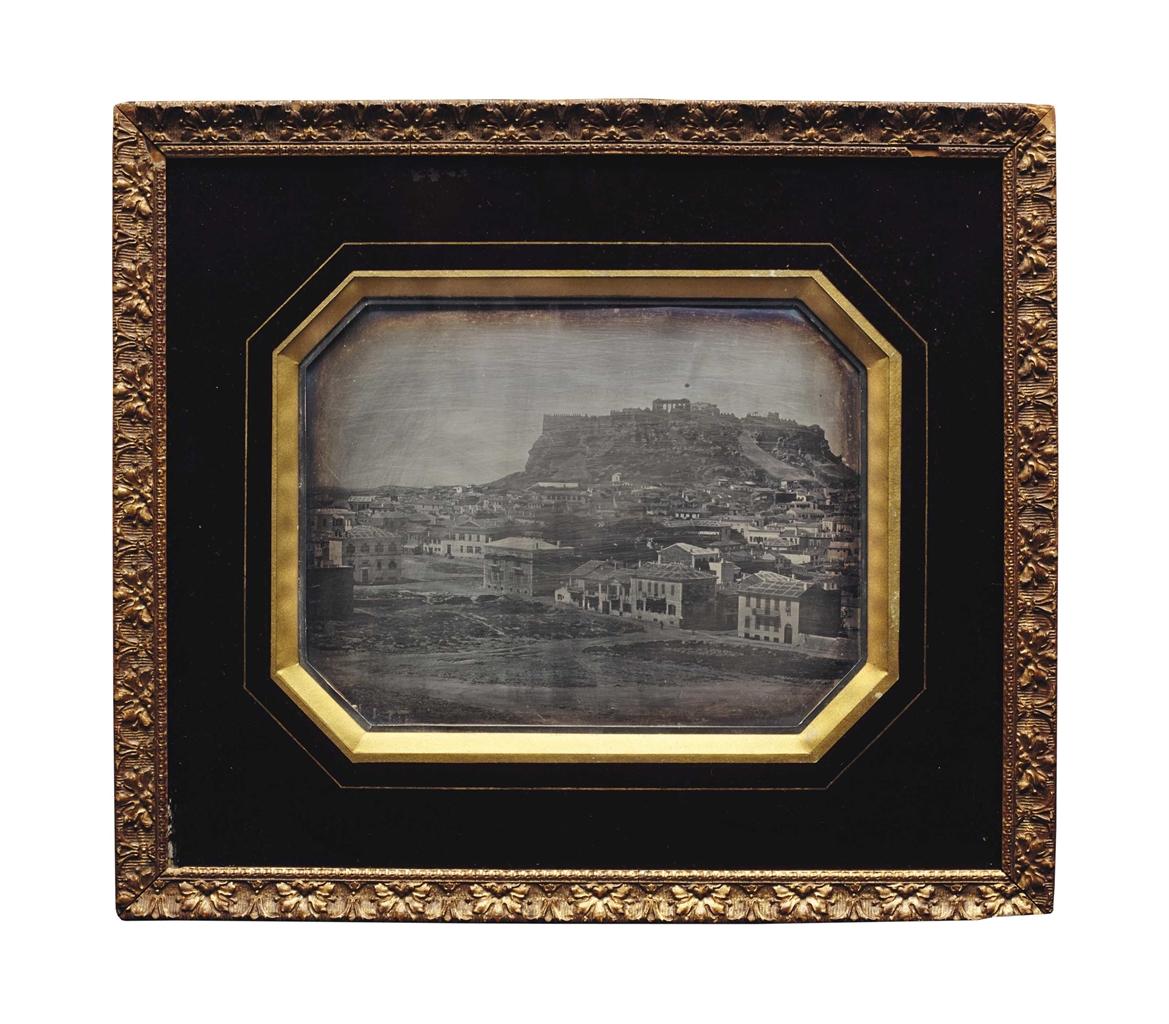 Jean-Baptiste Louis Gros-Vue de l'Acropole, Athenes-1850