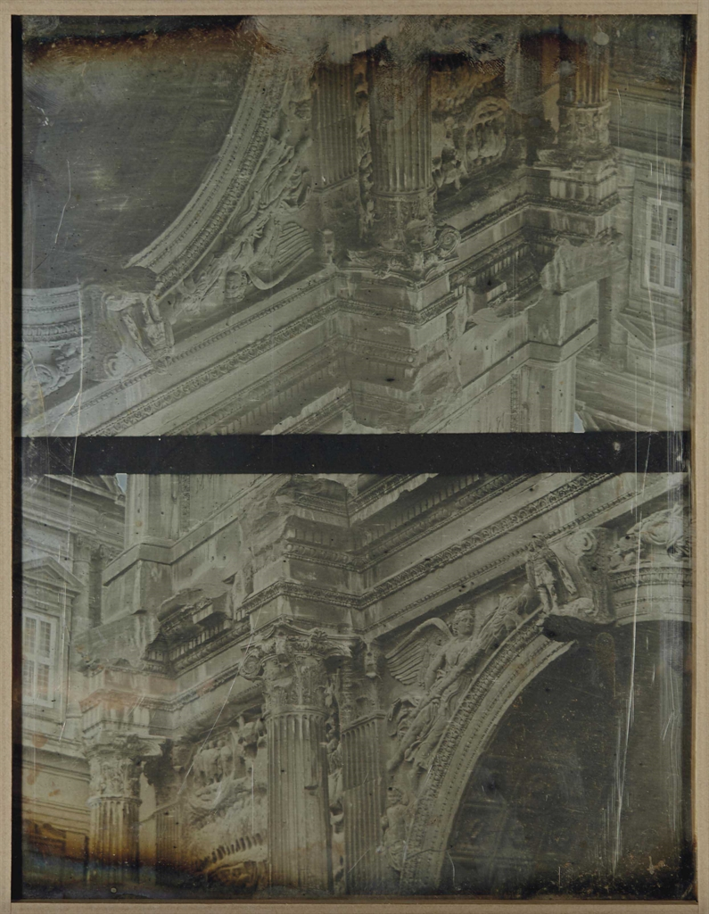 Joseph-Philibert Girault de Prangey-Arc de Septime Severe. Details, Rome-1842