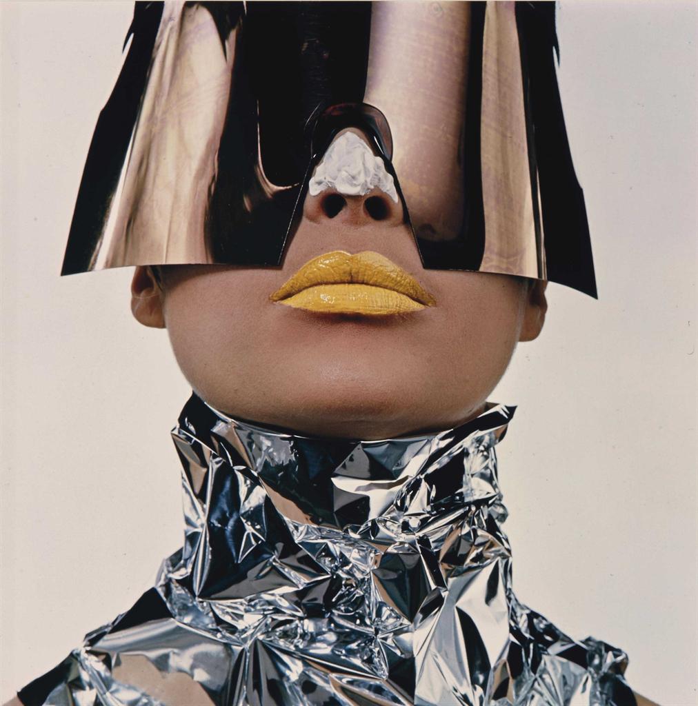 Irving Penn-Woman with Sun Block, New York-1966