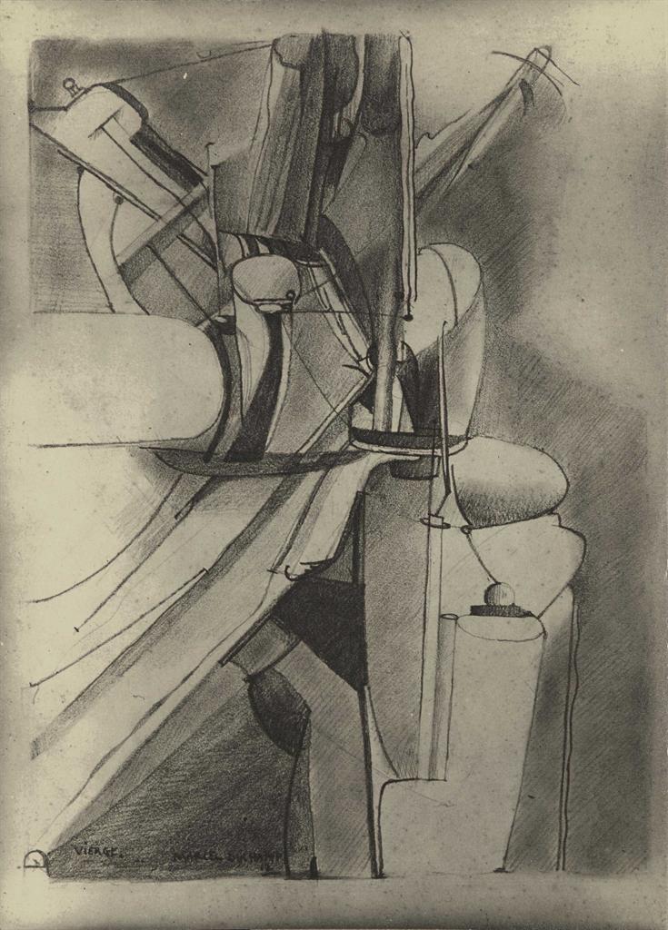 Man Ray-Vierge (Gallatin), Marcel Duchamp-1912
