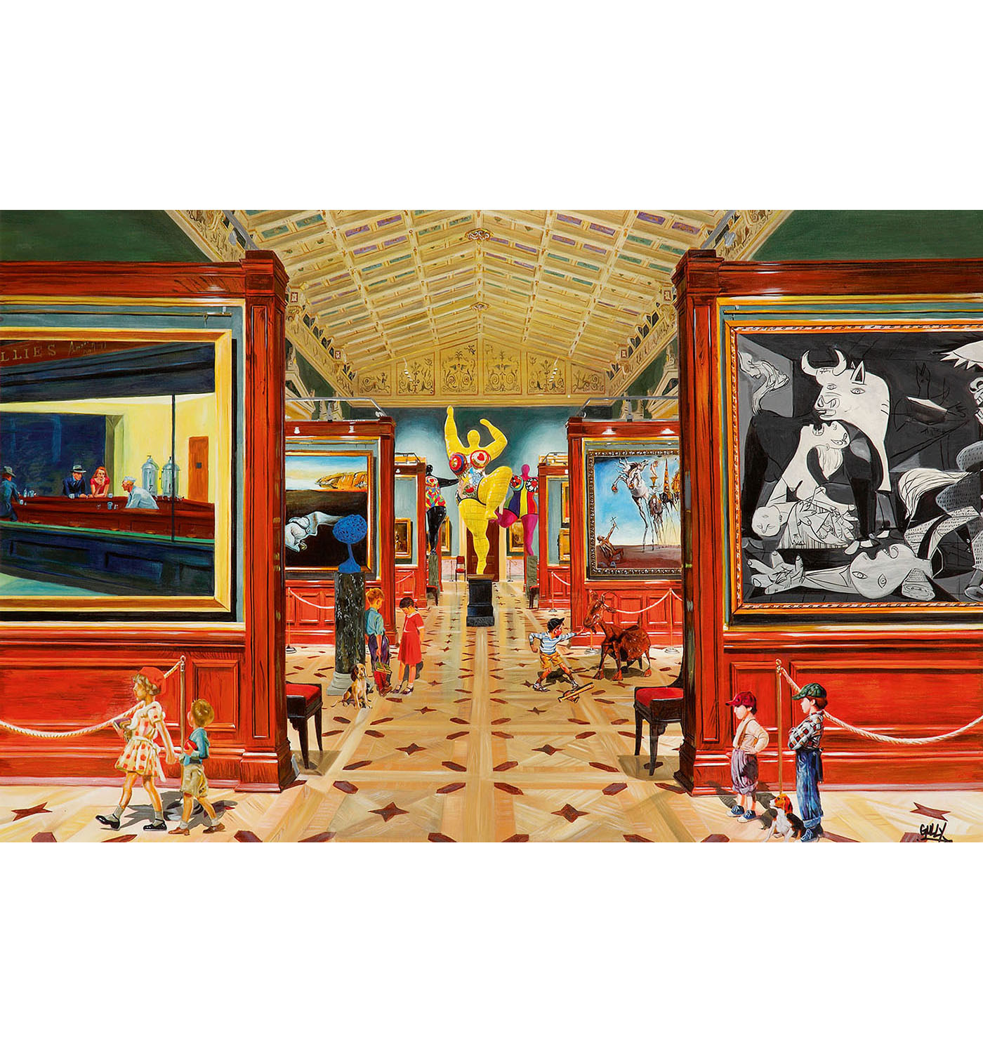 Gully-Rockwell & Co Meet Dali, Picasso, Saint Phalle And Hopper 1-2016