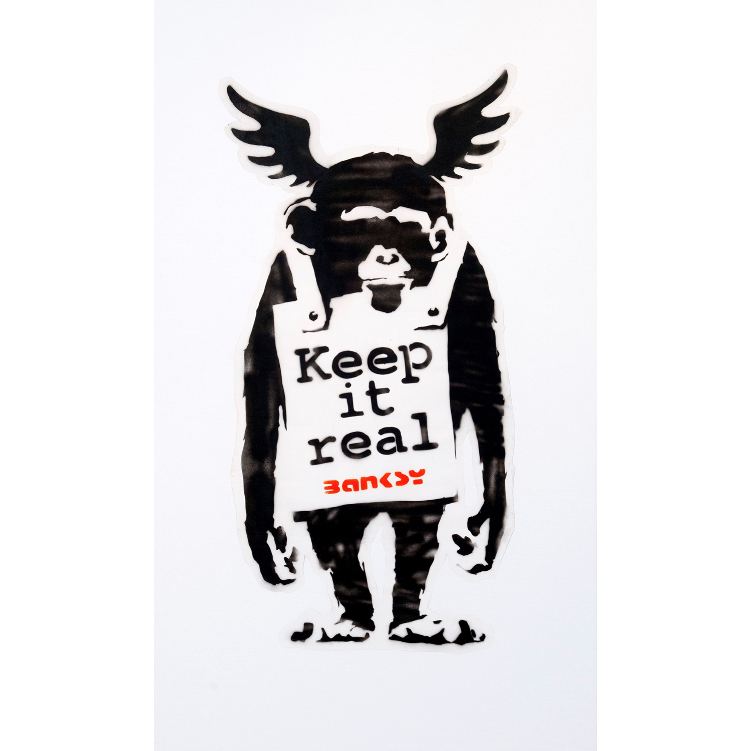 Banksy-Keep It Real' Monkey-2003