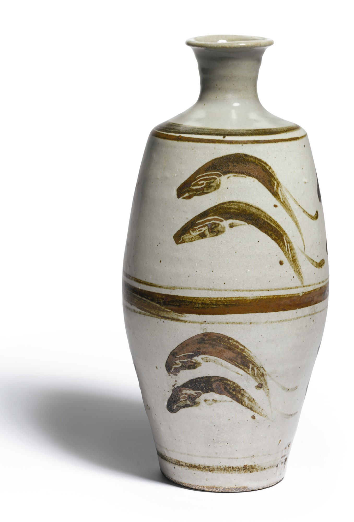 Bernard Leach-Vase With'Leaping Fish' Design-1969