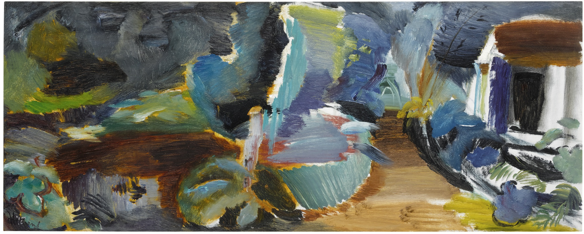 Ivon Hitchens-The Boathouse No. 3-1948