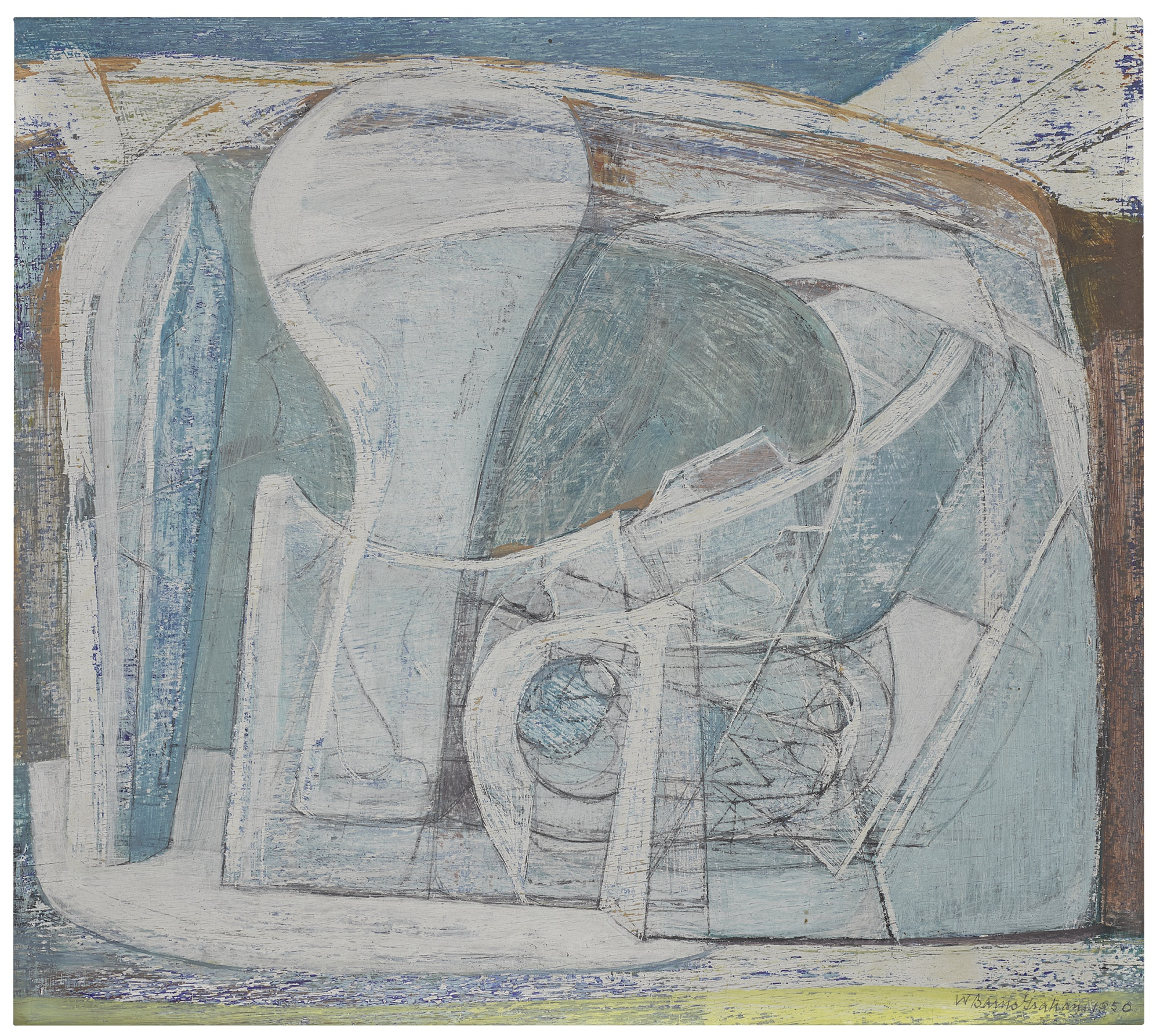 Wilhelmina Barns-Graham-Glacier (Bone)-1950