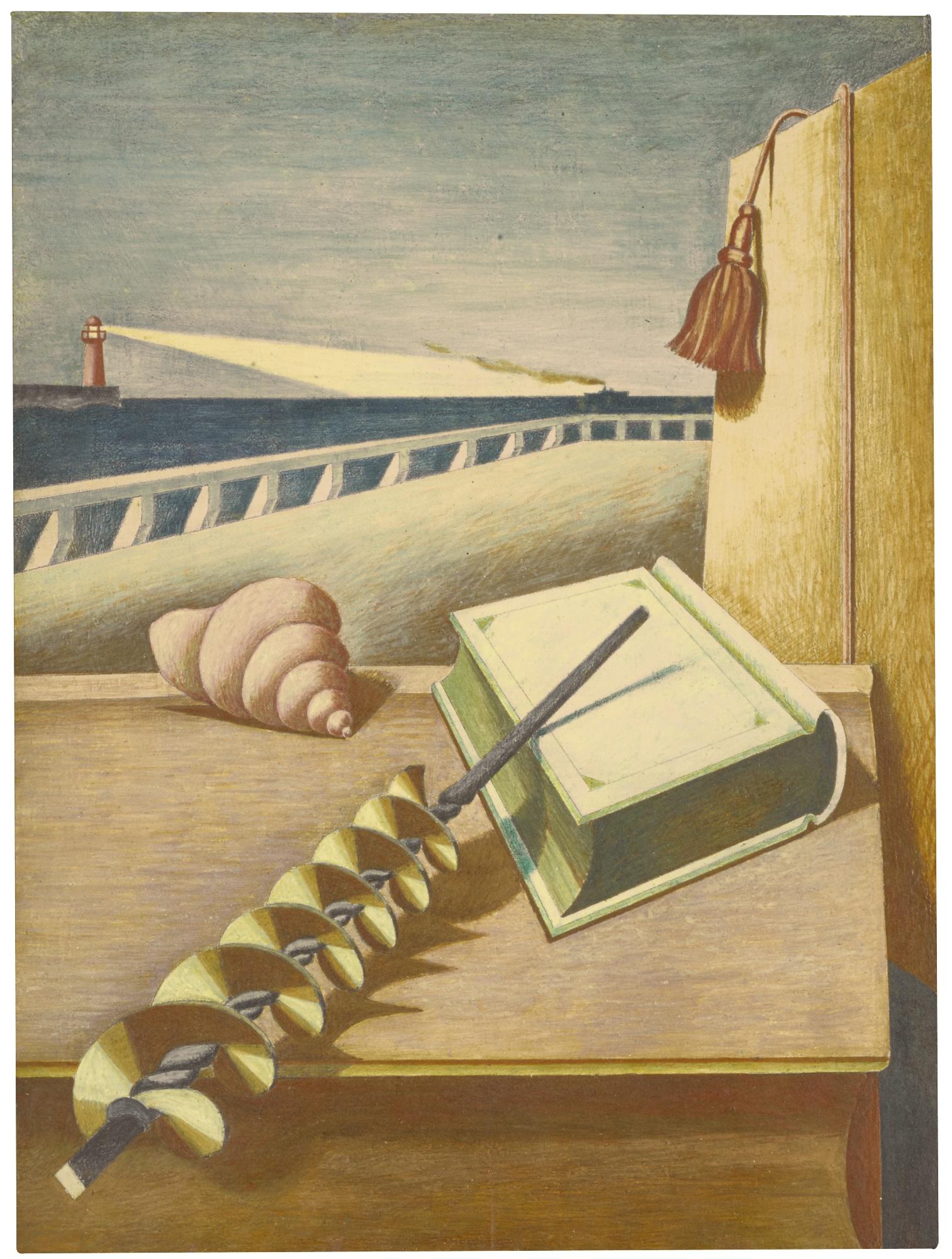 Edward Wadsworth-Au Revoir-1929