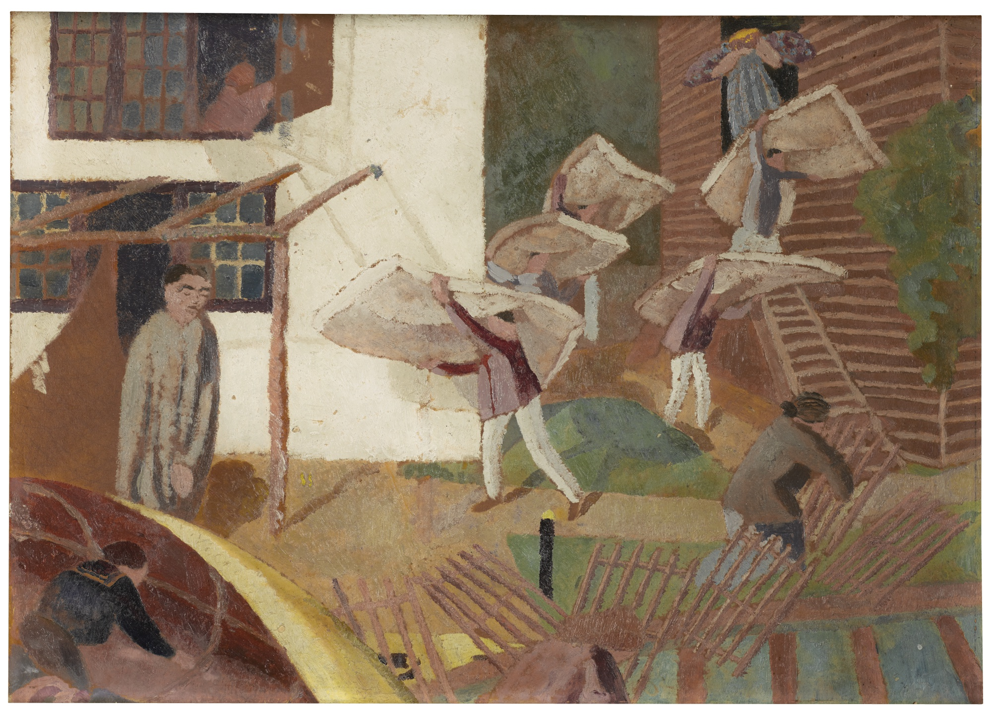 Stanley Spencer-Carrying Mattresses-1921