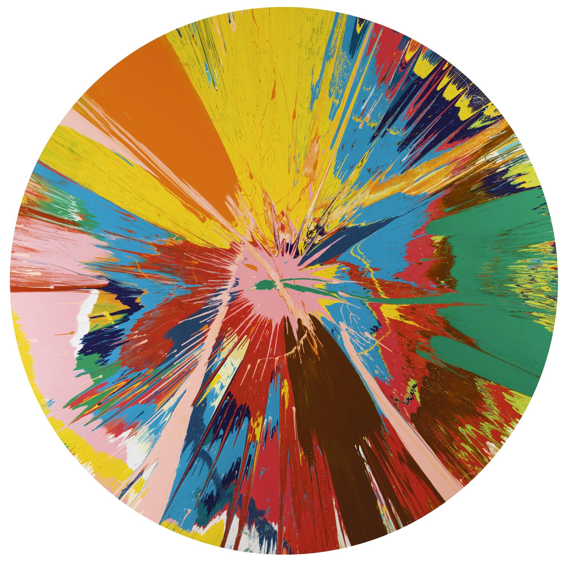 Damien Hirst-Beautiful Shattering Slashing Violent Pinky Hacking Sphincter Painting-1995