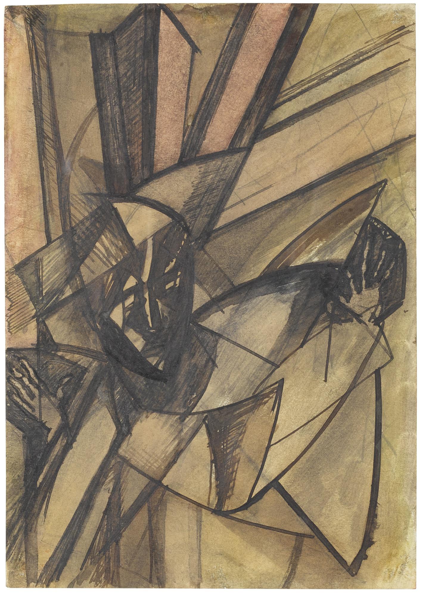 Wyndham Lewis-Futuristic Figure-1912