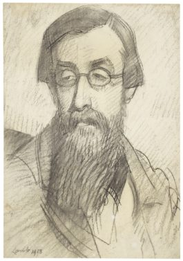 Henry Lamb-Study For Portrait Of Lytton Strachey-1913
