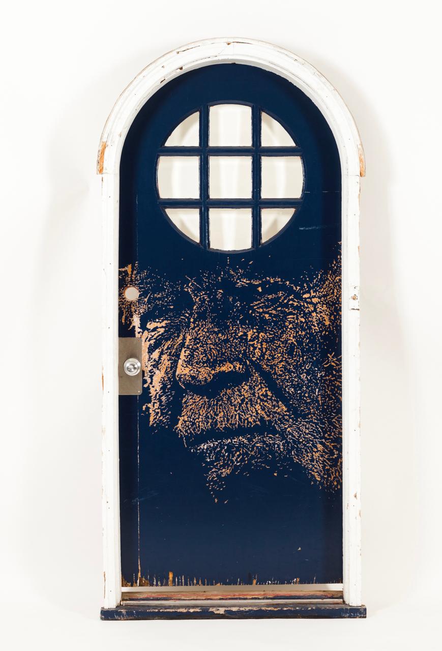 Vhils-The Blue Door-2011