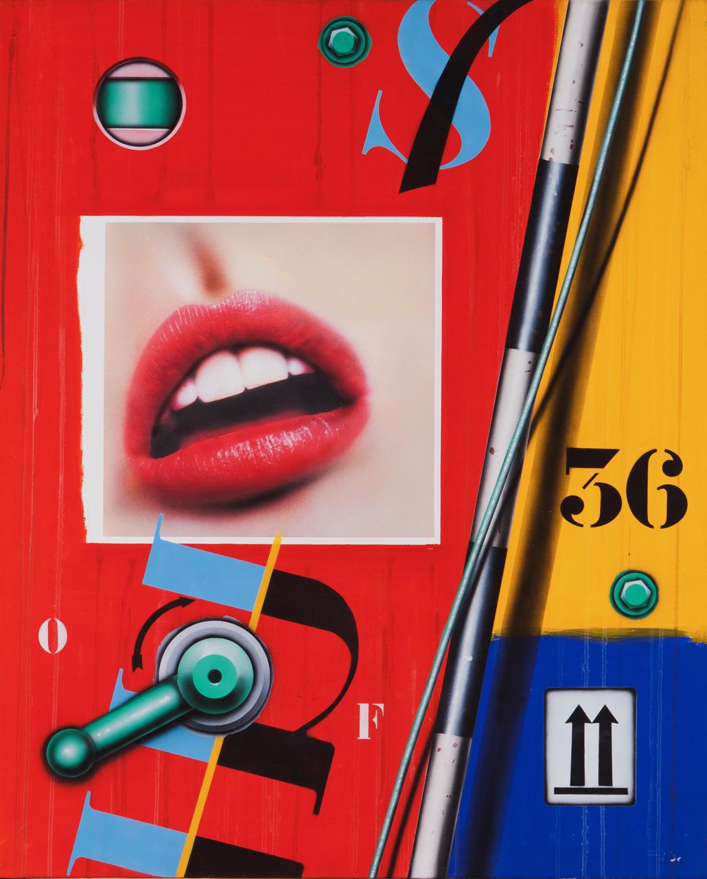 Peter Klasen-Bouche/36 Fond Rouge-2003