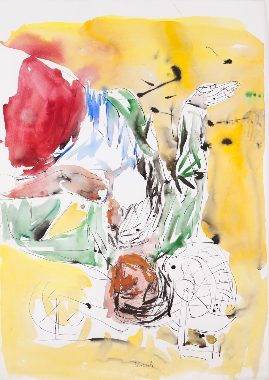 Georg Baselitz-Untitled (Lovers)-2001