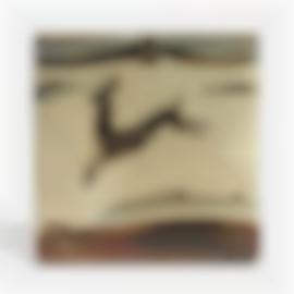 Bernard Leach-Leaping Deer' Tile-1939