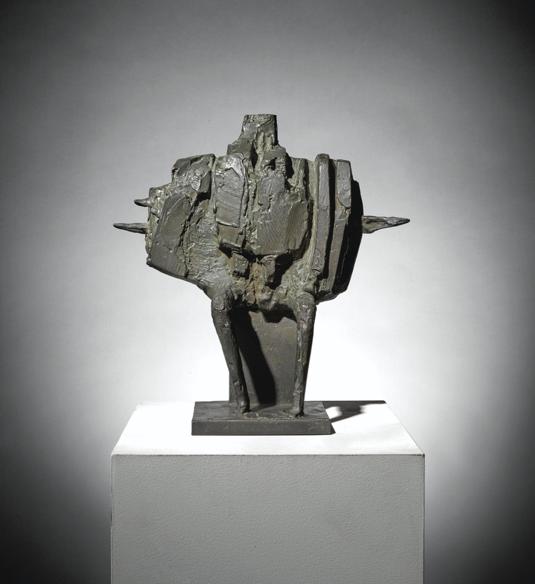 Bernard Meadows-Seated Armed Figure-1962