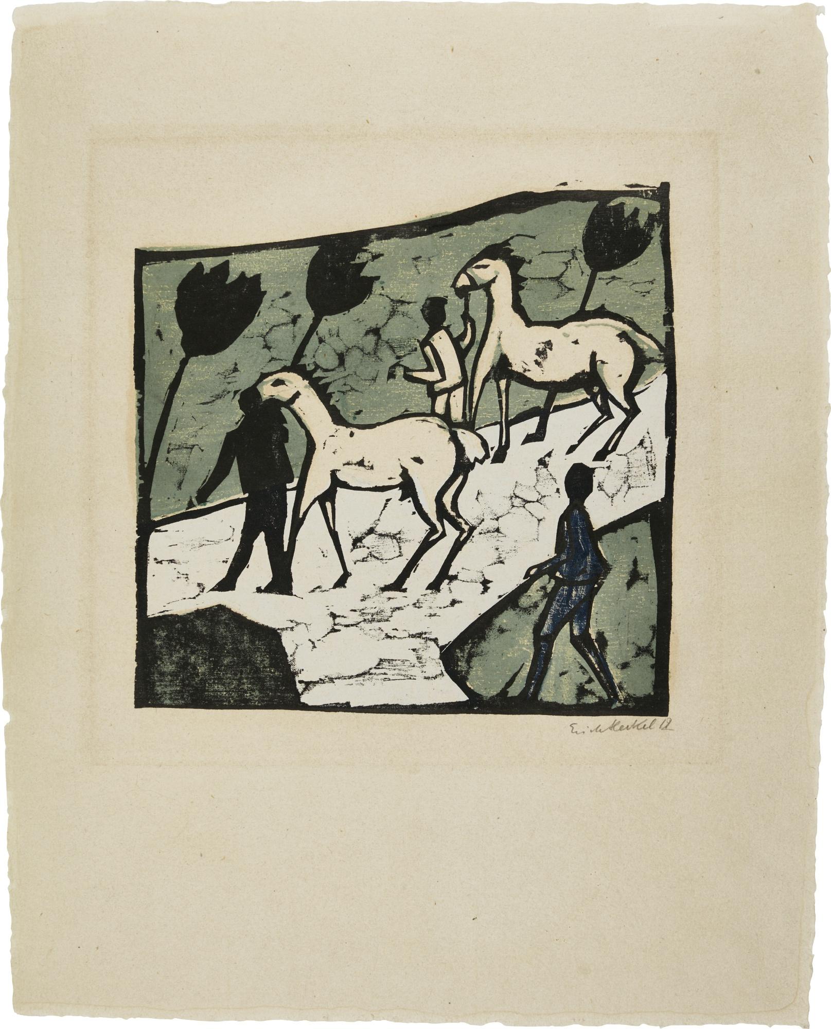 Erich Heckel-Weisse Pferde-1912