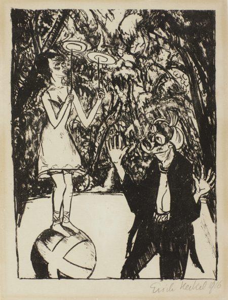 Erich Heckel-Kugellauferin-1916
