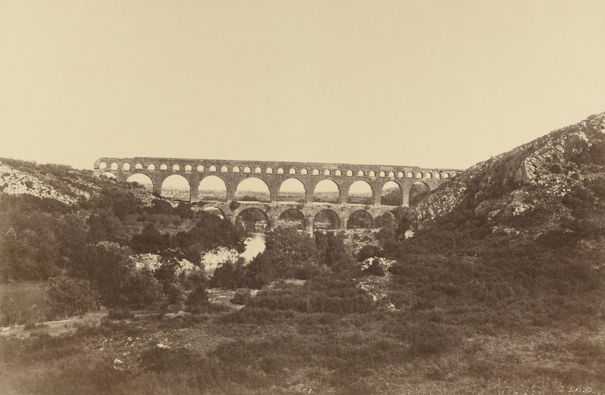 Edouard Baldus-Pont Du Gard France-1855