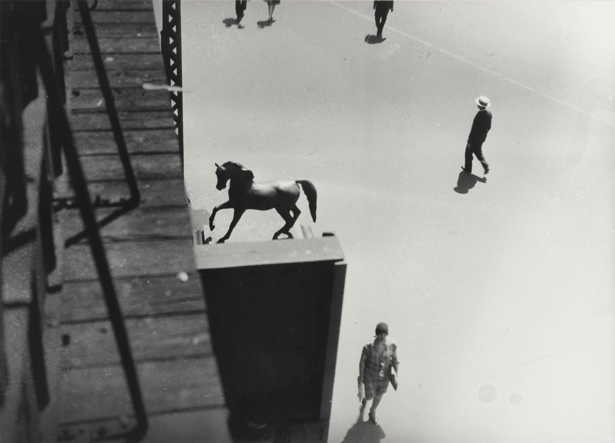 Berenice Abbott-El At Columbus And Broadway New York City; Garibaldi On Washington Square; Chelsea-1937