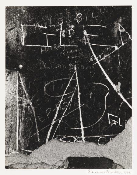 Edward Weston-Wall Scrawls Hornitos-1940