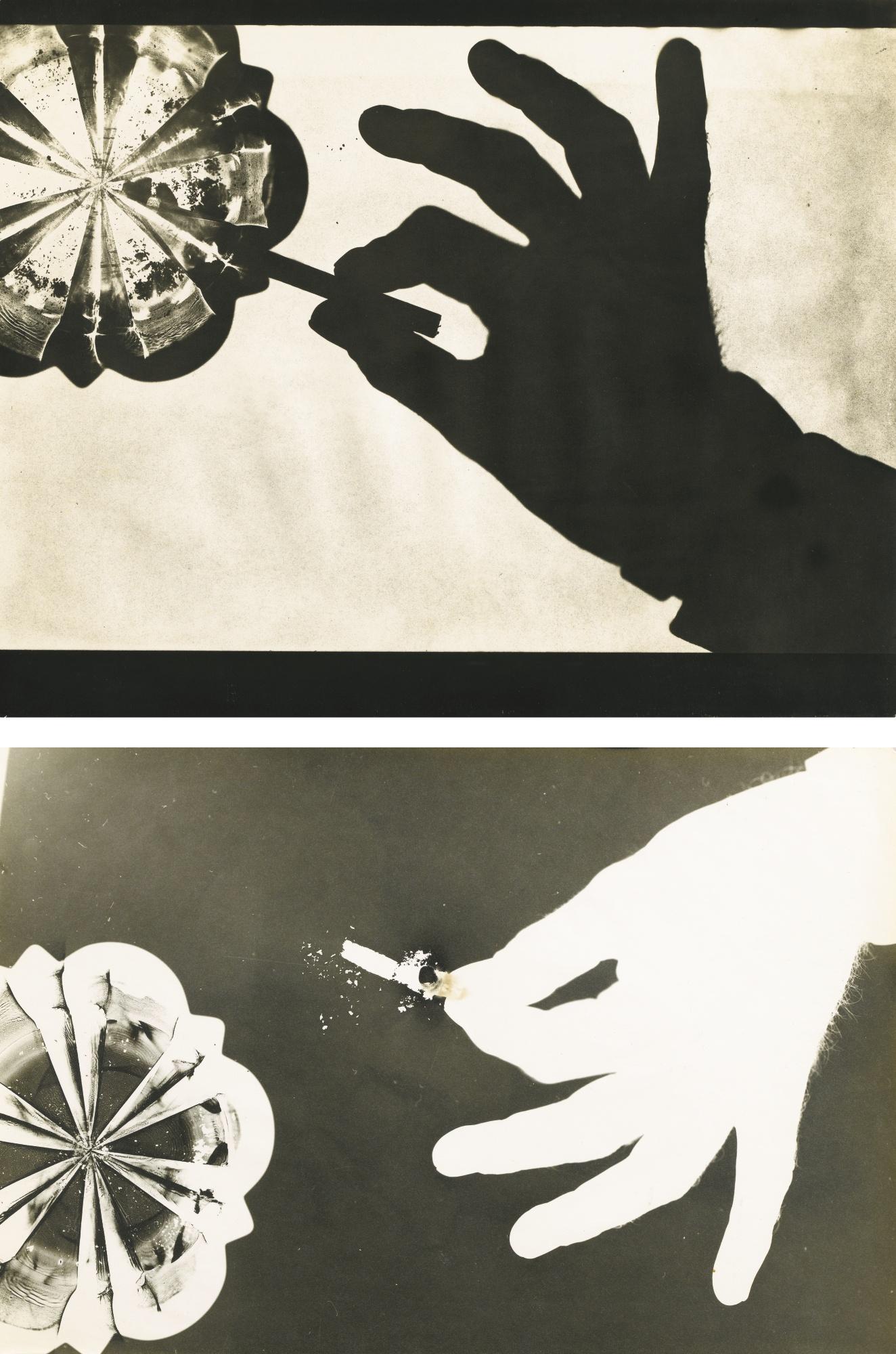 Geza Vandor-Hand With Cigarette (Diptych) Paris-1930