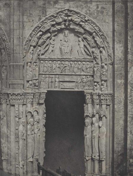 Charles Negre-Cathedrale de Chartres. Cote occidental. Porte laterale de droite-1857