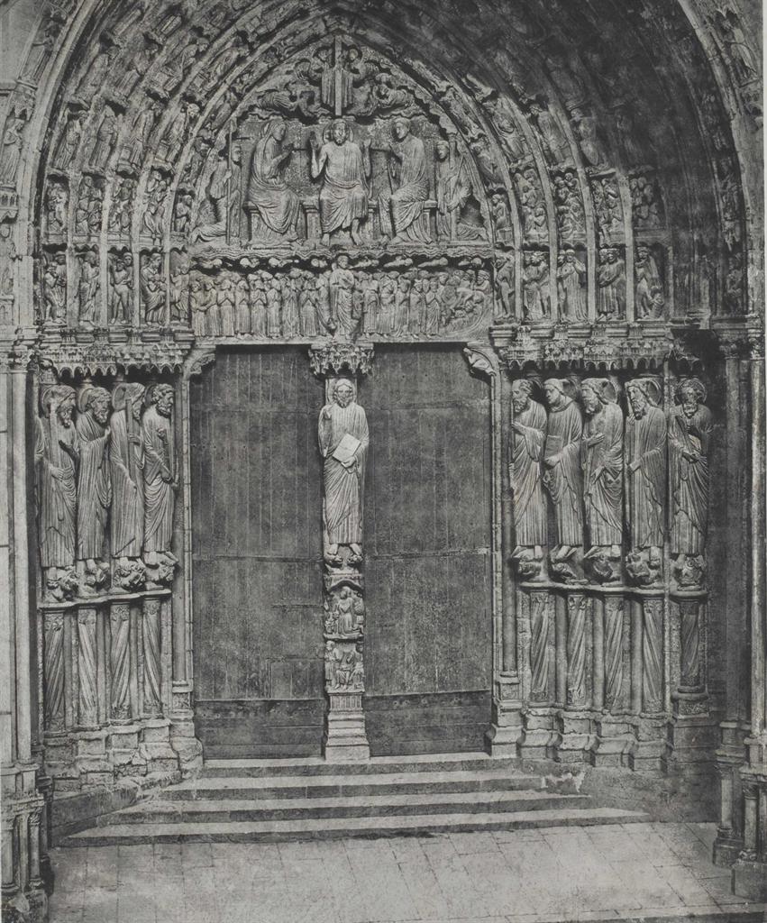 Charles Negre-Cathedrale de Chartres. Porche meridional. Porte Centrale-1857