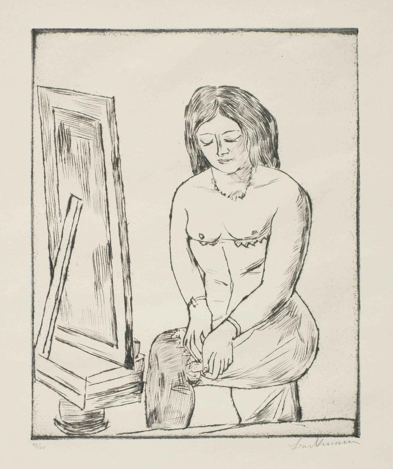 Max Beckmann-Toilette (Vor dem Spiegel)-1923