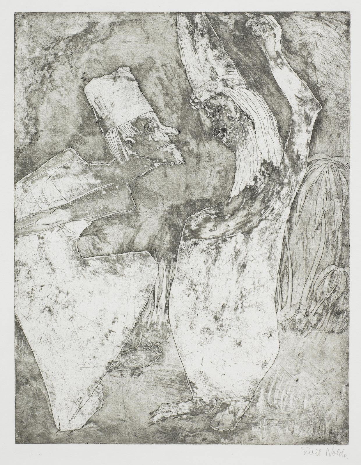 Emil Nolde-Gelehrtenstreit (Schiefler/Mosel 207)-1922