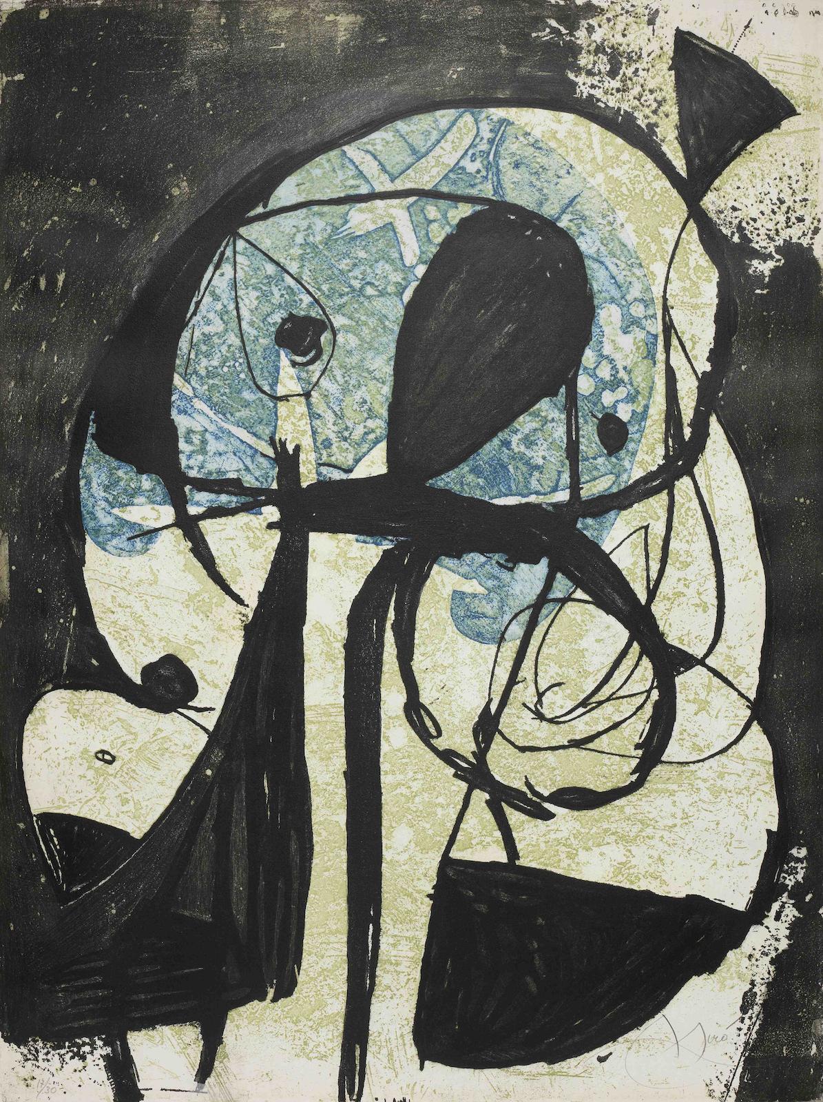 Joan Miro-La Commedia dell'Arte VIII (Dupin 1113)-1979