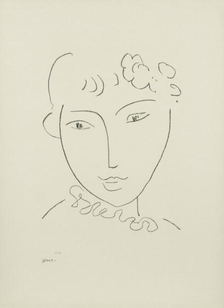 Henri Matisse-One plate from Lithographies sur le theme La Pompadour (Duthuit 672)-1969