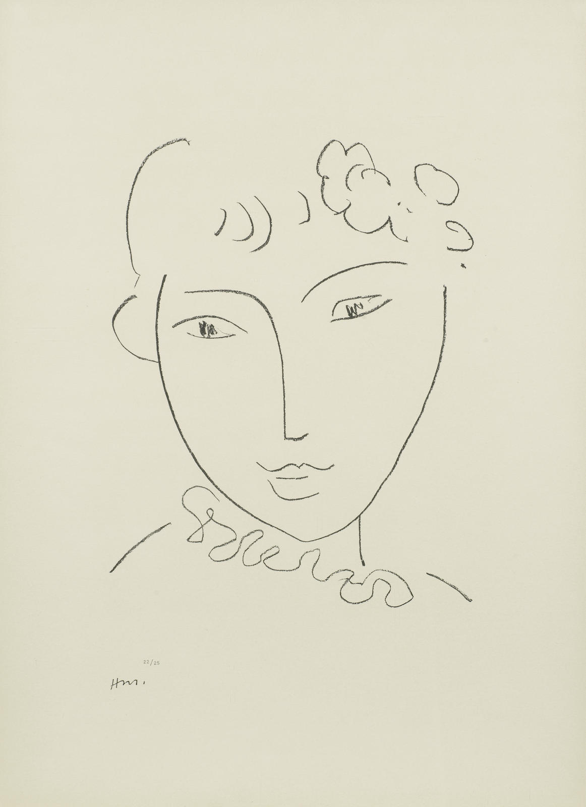 Henri Matisse-One plate from Lithographies sur le theme La Pompadour (Duthuit 672)-1969