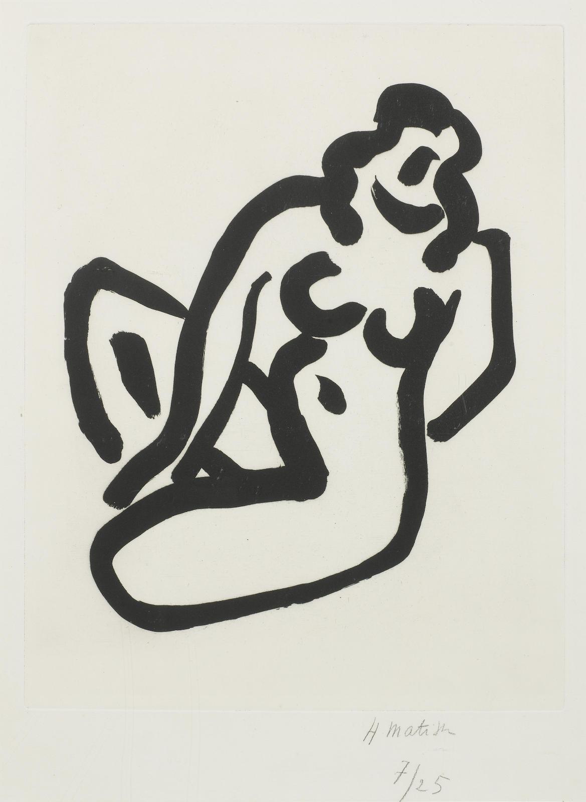 Henri Matisse-Nu accroupi I (Duthuit 781)-1947