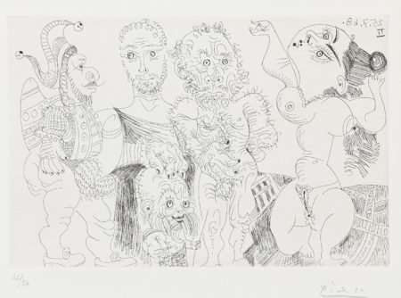Pablo Picasso-Polichinelle et Nain, from La Serie 347 (Bloch 1696; Baer 1712.Bb1)-1968