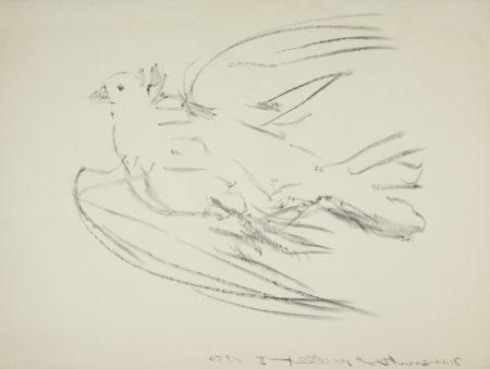 Pablo Picasso-La Colombe volant (Bloch 677; Mourlot 191)-1950
