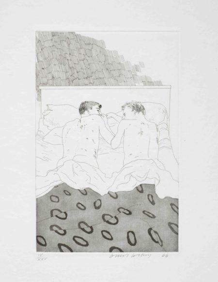 David Hockney-Illustrations for Fourteen Poems from C.P. Cavafy (S.A.C. 47-59; MCA Tokyo 47-59)-1966