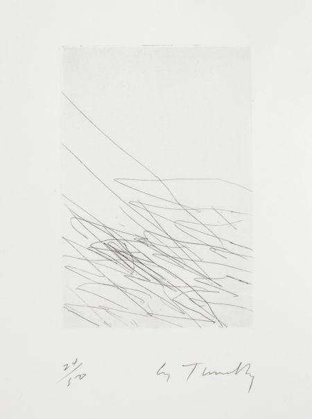 Cy Twombly-11 Grey Paintings: Series I (Bastian 35)-1970