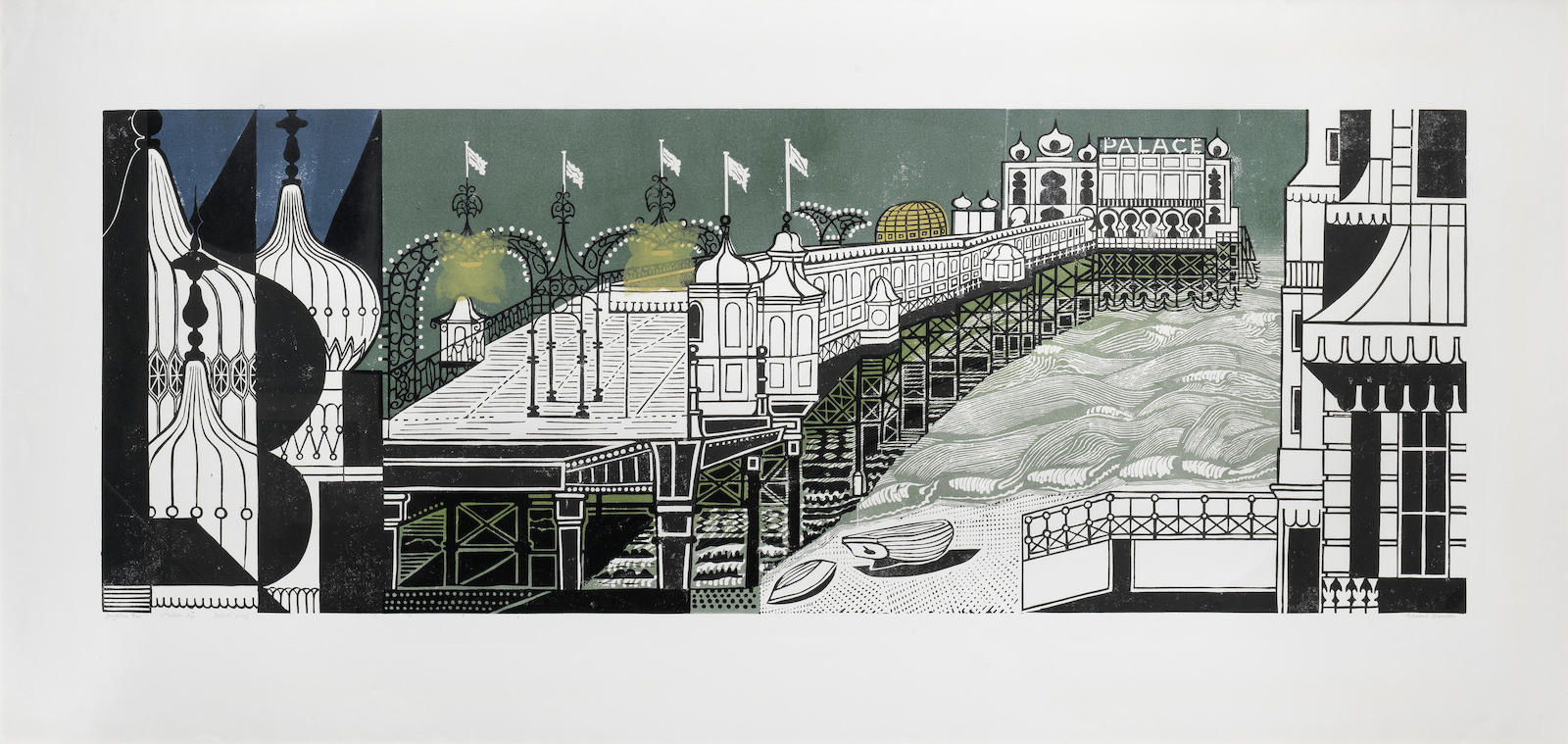 Edward Bawden-Brighton Pier - Second Edition (Greenwood 51)-1977