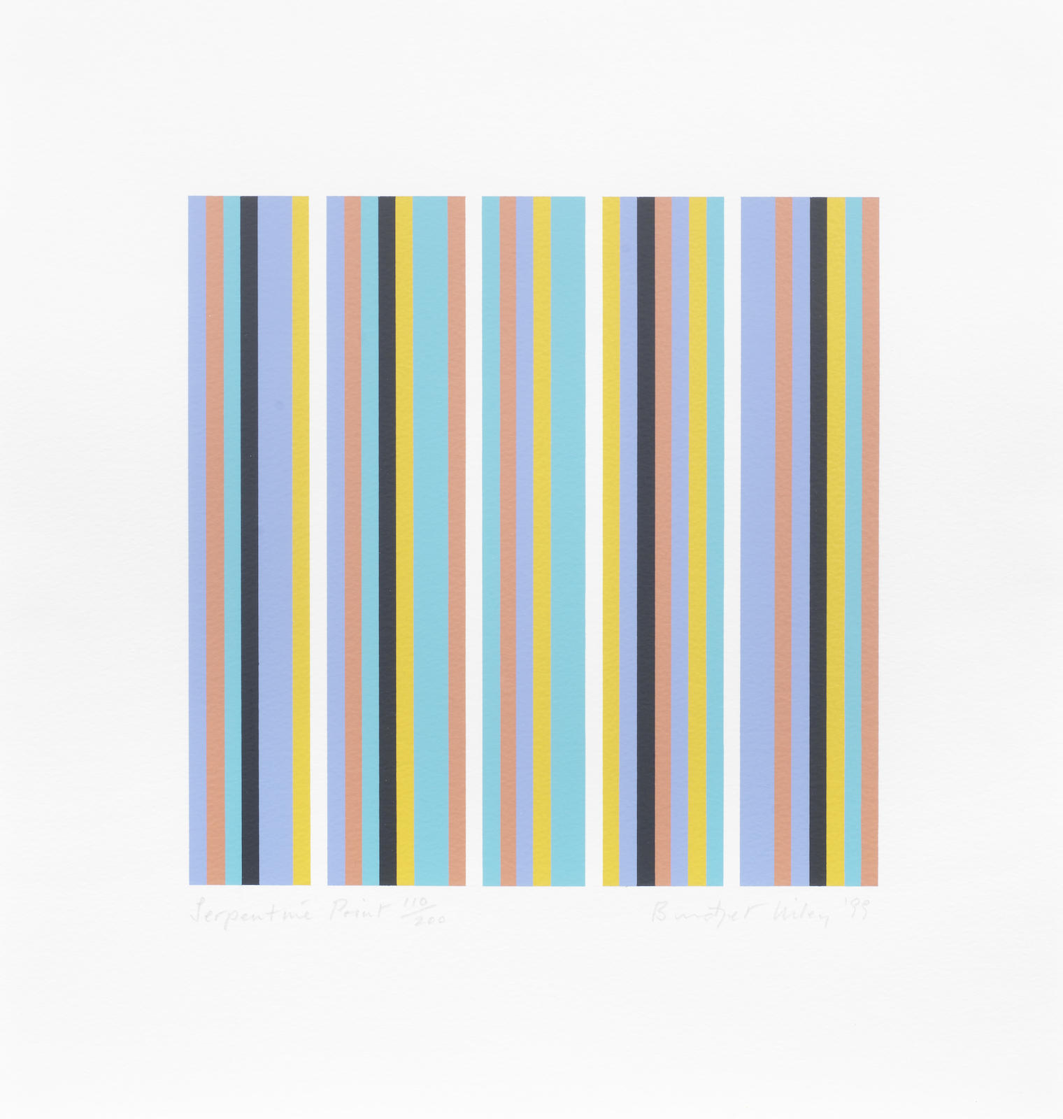 Bridget Riley-Serpentine Print (Schubert 39)-1999