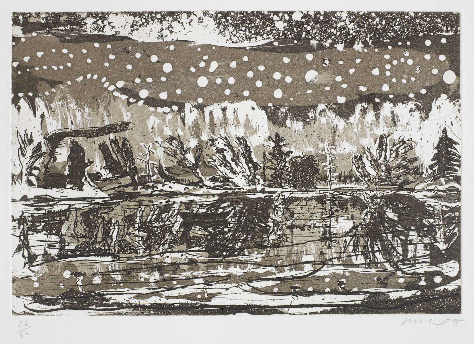 Peter Doig-Night Fishing, from Stutz Mappe Portfolio-1995