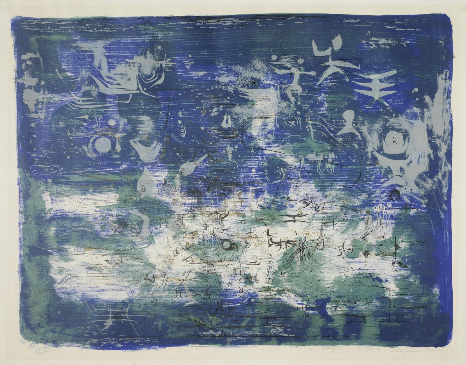 Zao Wou-Ki-Jardin La Nuit (Agerup 57)-1954