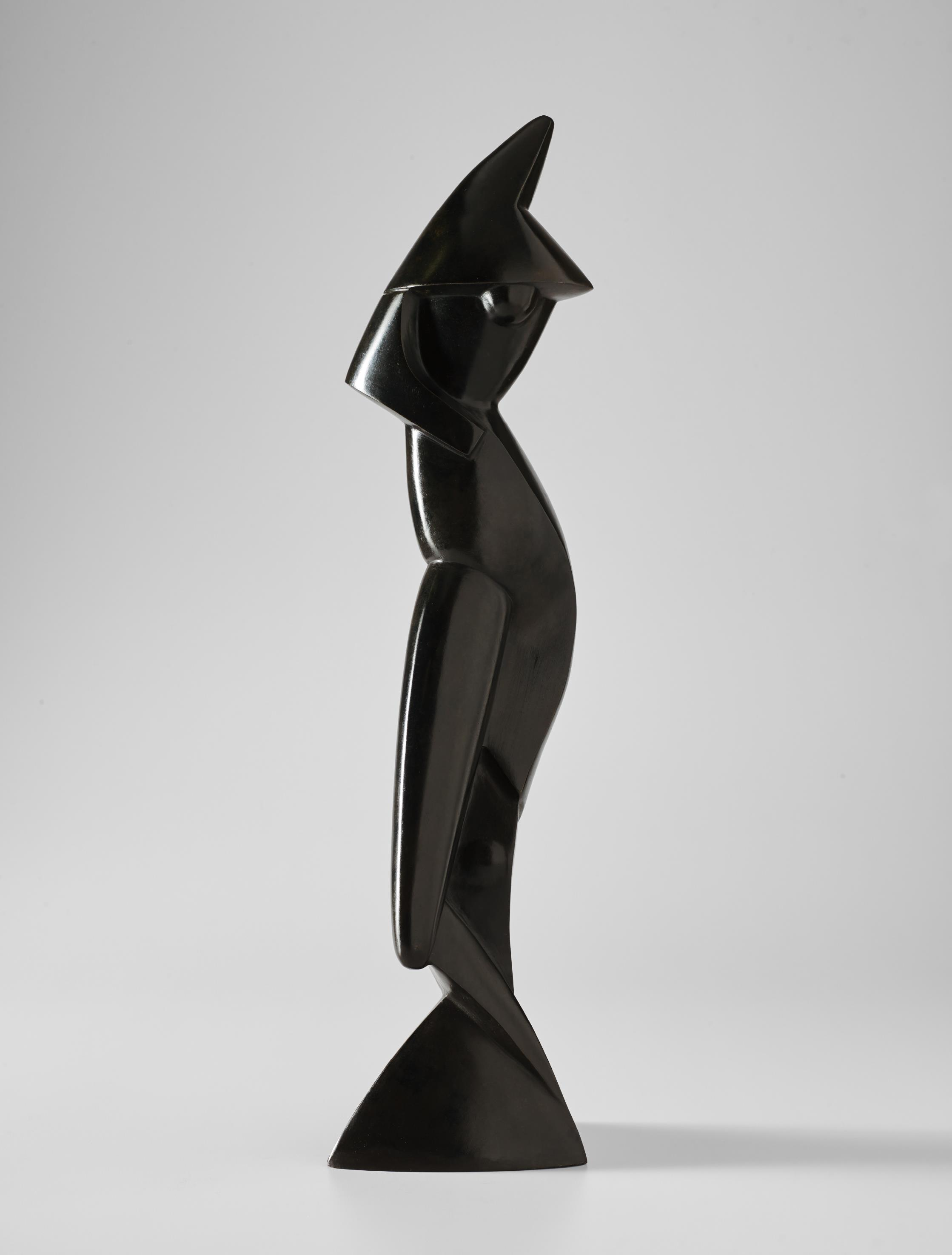 Alexander Archipenko-Statue on Triangular Base-1914