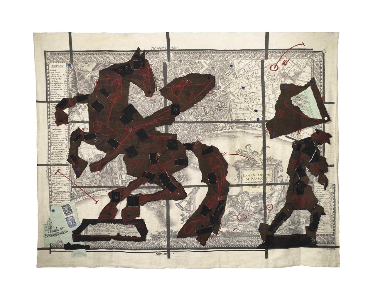 William Kentridge-Pianta della Citta di Napoli-2011