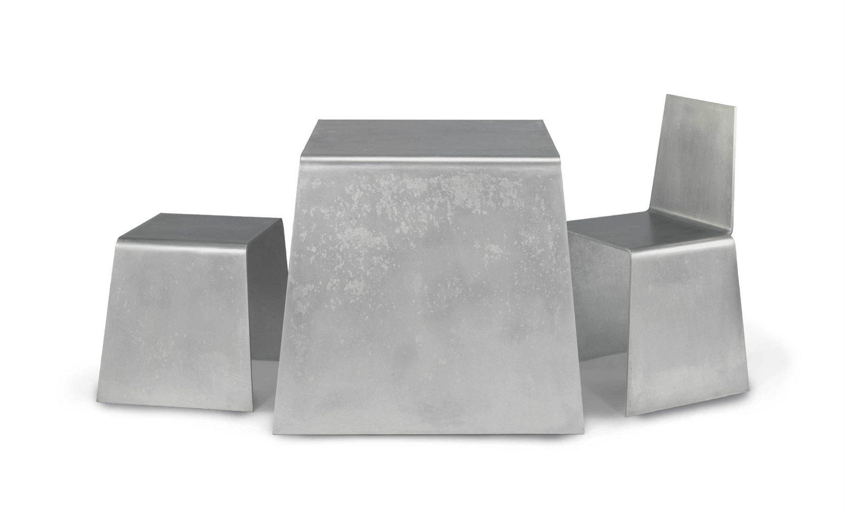 Scott Burton-Steel Furniture Set-1978