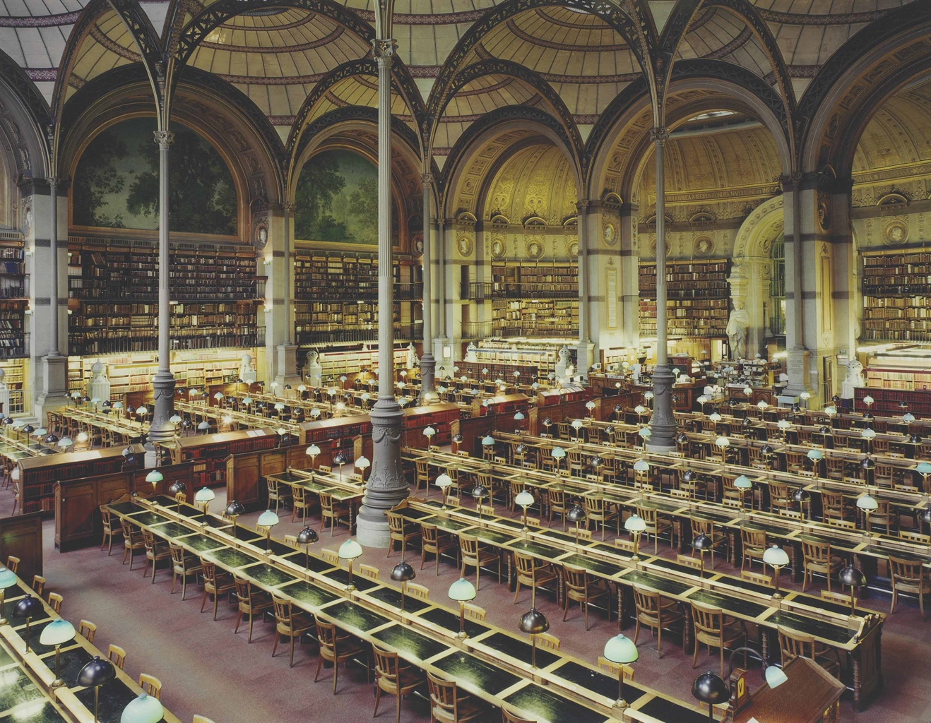 Candida Hofer-Bibliotheque Nationale de France XIII-1998